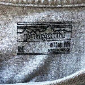 Patagonia Shirts - Patagonia Slim Fit Gray Organic Blend T-Shirt